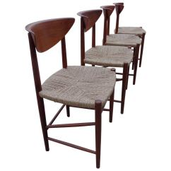Seagrass Dining Chairs Patio Chair Cushions With Velcro Fasteners By Hvidt And Mørlgaard In Teak