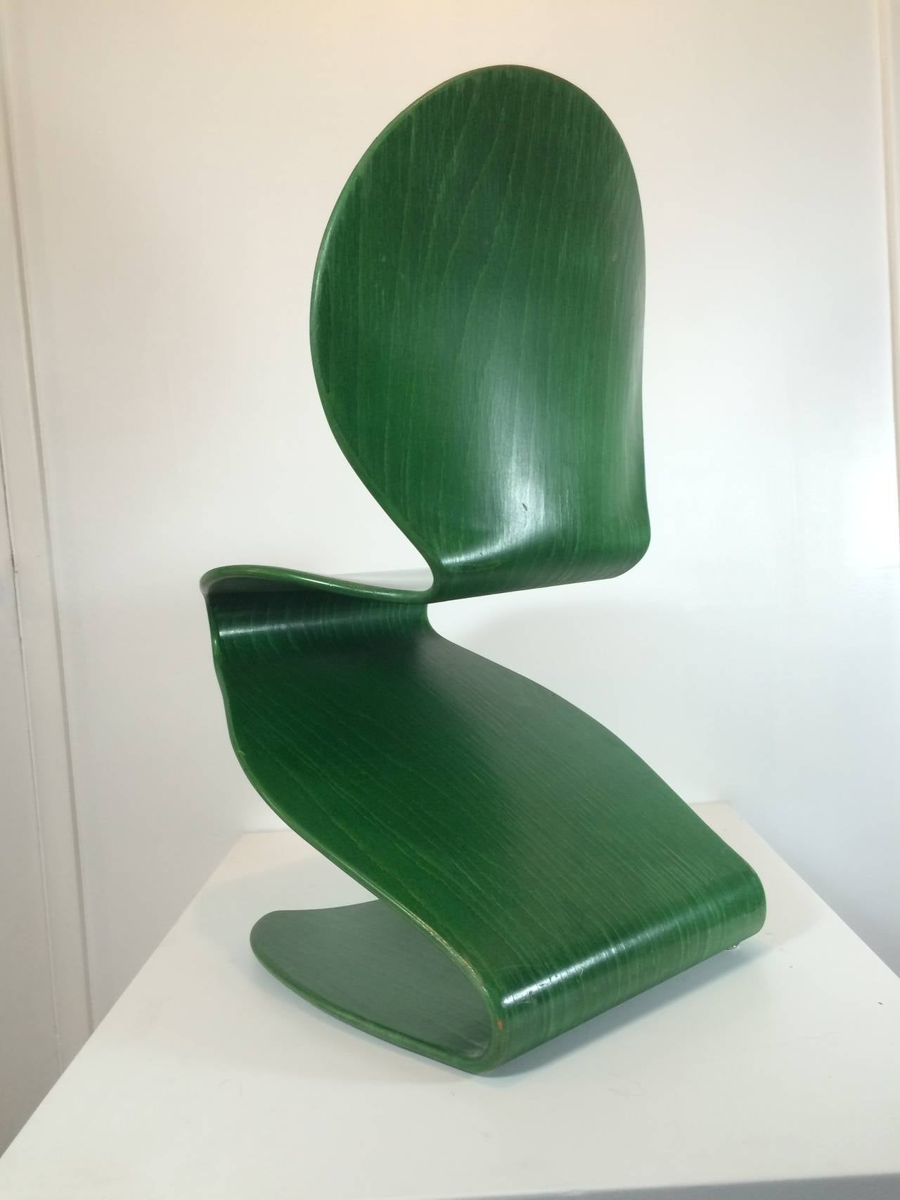 panton s chair round swivel accent 1956 verner no 276 distributed by thonet for sale mid century modern