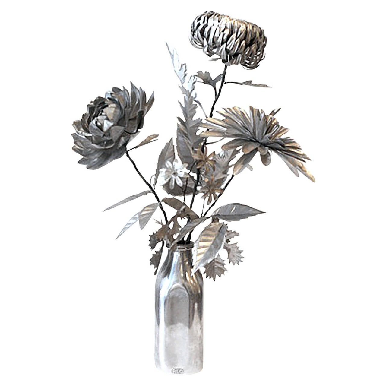 Kirk Maxson Cut Metal Flower Sculpture For Sale At 1stdibs
