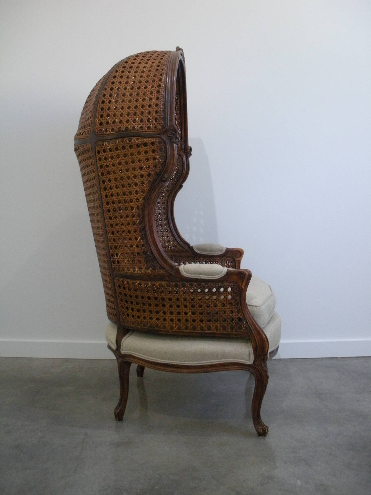 Porter Chair Louis Xv Style Porter Chair With French Caning At 1stdibs