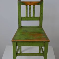 Academy Beach Chairs Steel Easy Chair Pair Of School With Original Green Paint 1940s At