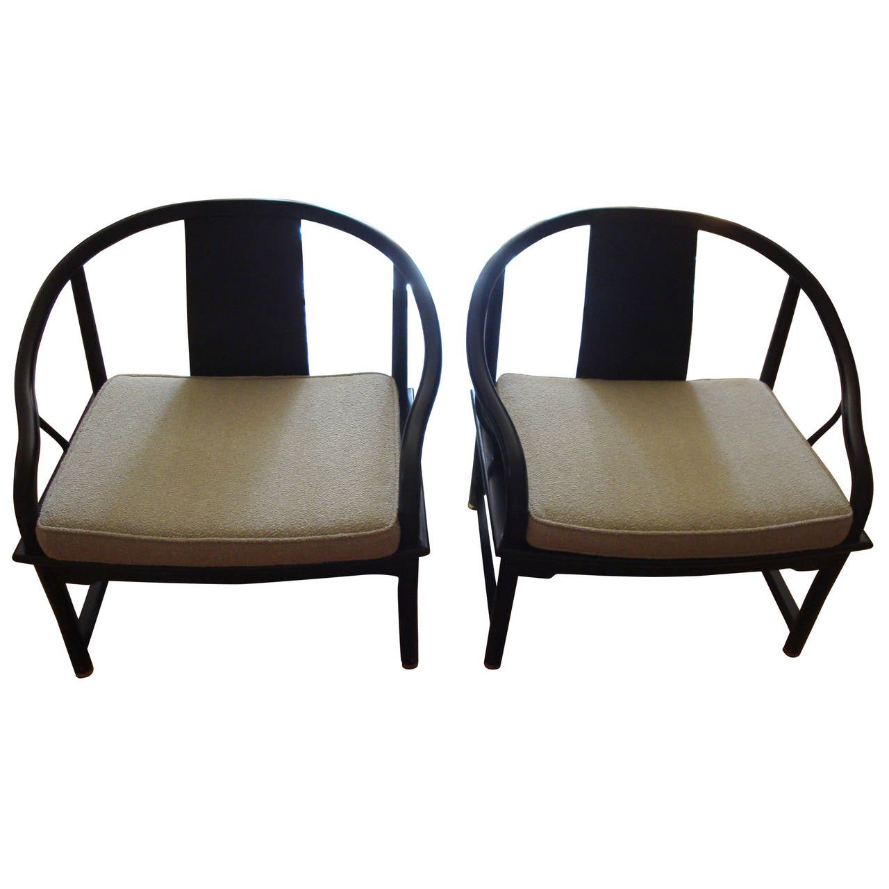 Midcentury Chairs Mid Century Modern Baker Asian Style Caned Chairs At 1stdibs