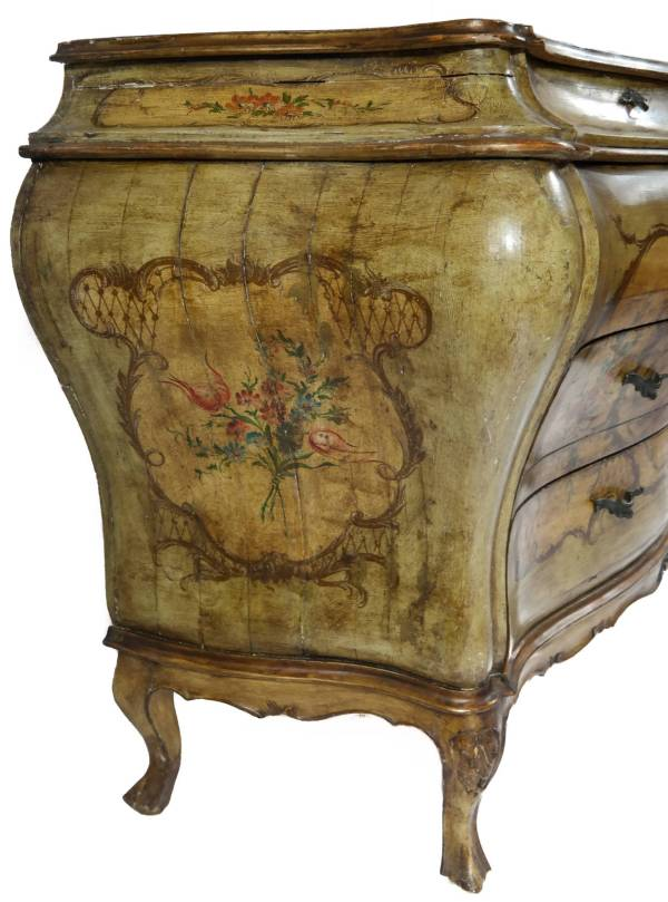 Hand-painted Bombe Chest 1stdibs