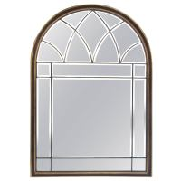 Italian Midcentruy Window Style Arched-Top Beveled Mirror ...