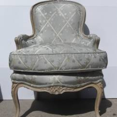 Leather Bergere Chair And Ottoman Ikea Gaming French Carved Painted At 1stdibs