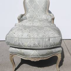 Leather Bergere Chair And Ottoman Covers Limerick French Carved Painted At 1stdibs