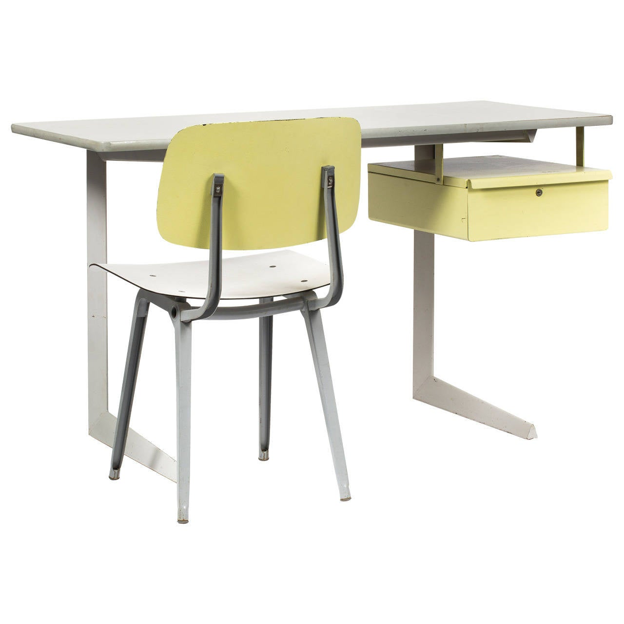 teacher table and chair lowes folding chairs desk revolt by friso kramer at 1stdibs