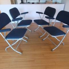 Nice Folding Chairs Revolving Chair Parts Dealers Set Of Four Deco By Warren Mcarthur At