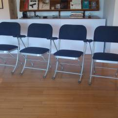 Nice Folding Chairs Most Ergonomic Chair Set Of Four Deco By Warren Mcarthur At
