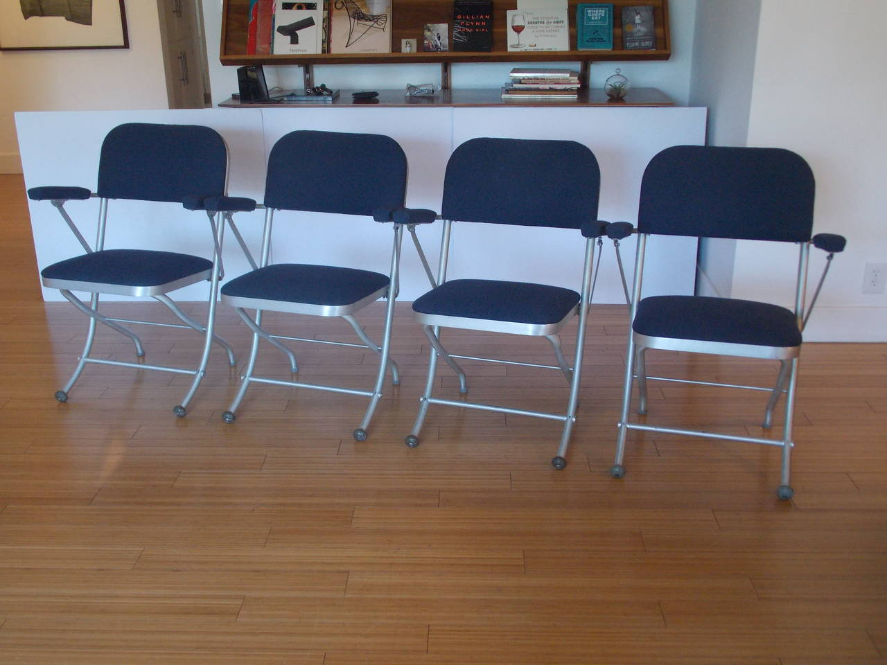 Nice Folding Chairs Nice Set Of Four Deco Folding Chairs By Warren Mcarthur At