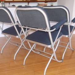 Nice Folding Chairs Action Track Chair Set Of Four Deco By Warren Mcarthur At