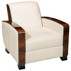 Art Deco Club Chairs Leather Where To Rent Tables And Style Chair In Macassar At 1stdibs