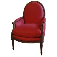 American Leather Swing Chair Guitar Stool Large Louis Xvi Bergere At 1stdibs