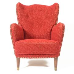 Red Chairs For Sale Urban Outfitters 1940s Danish Wingback Lounge Chair In Frieze