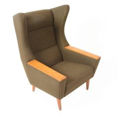 Modern Wingback Chairs For Sale Shower Chair And Commode Danish Oak Olive Lounge