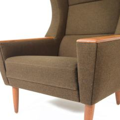 Modern Wingback Chairs For Sale Alabama Lawn Chair Boat Danish Oak And Olive Lounge