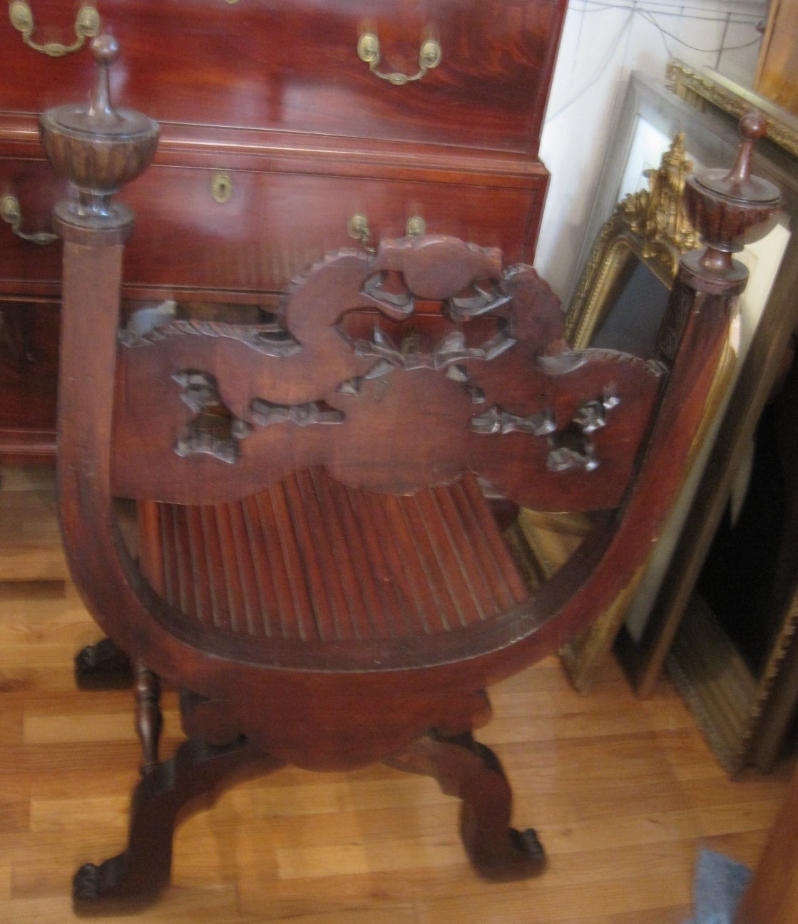 antique chinese dragon chair wooden baby high canada 19th century carved at 1stdibs