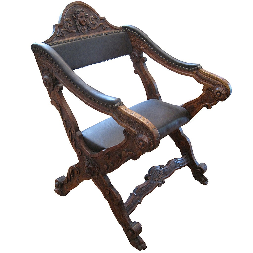 Hand Chairs Hand Carved Renaissance Revival Armchair At 1stdibs