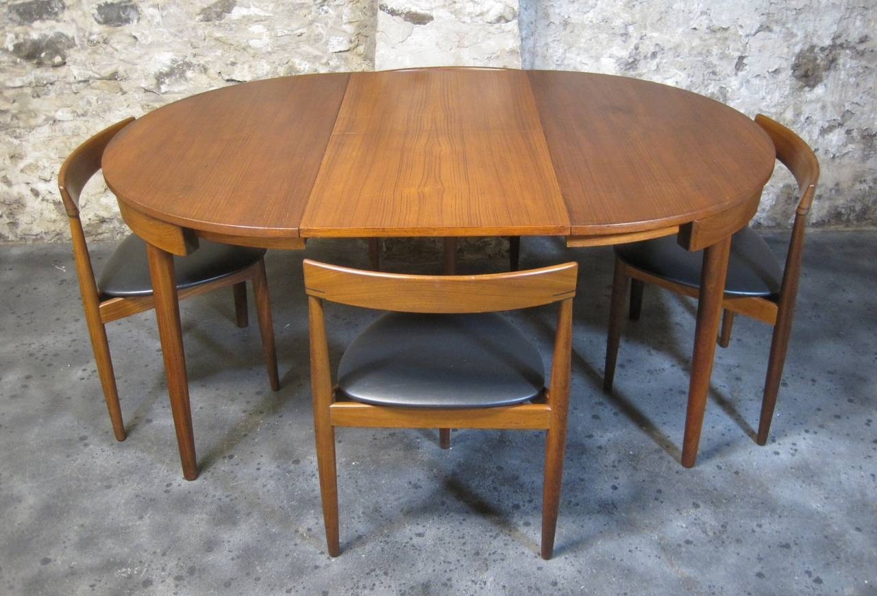 Teak Dining Room Chairs Hans Olsen For Frem Rojle Teak Dining Table And Chairs Mid Century Modern