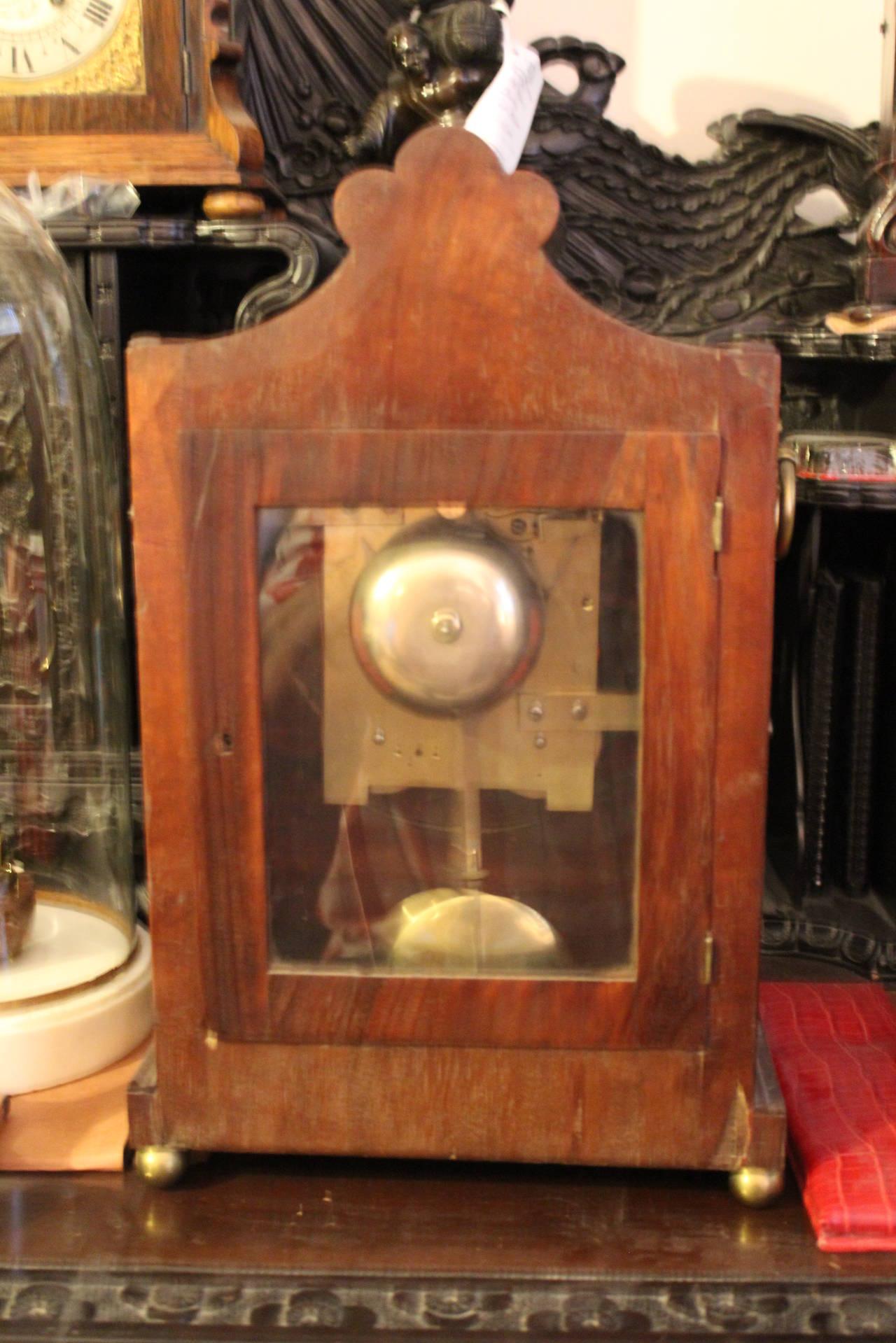 English Bracket Clock 19th Century William LV Period For
