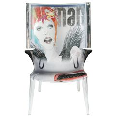 Transparent Polycarbonate Chairs Tiger Print Chair David Bowie