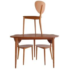 Guitar Shaped Chair Dining Room Folding Chairs Important Max Bill Bentwood Tripod Set At 1stdibs