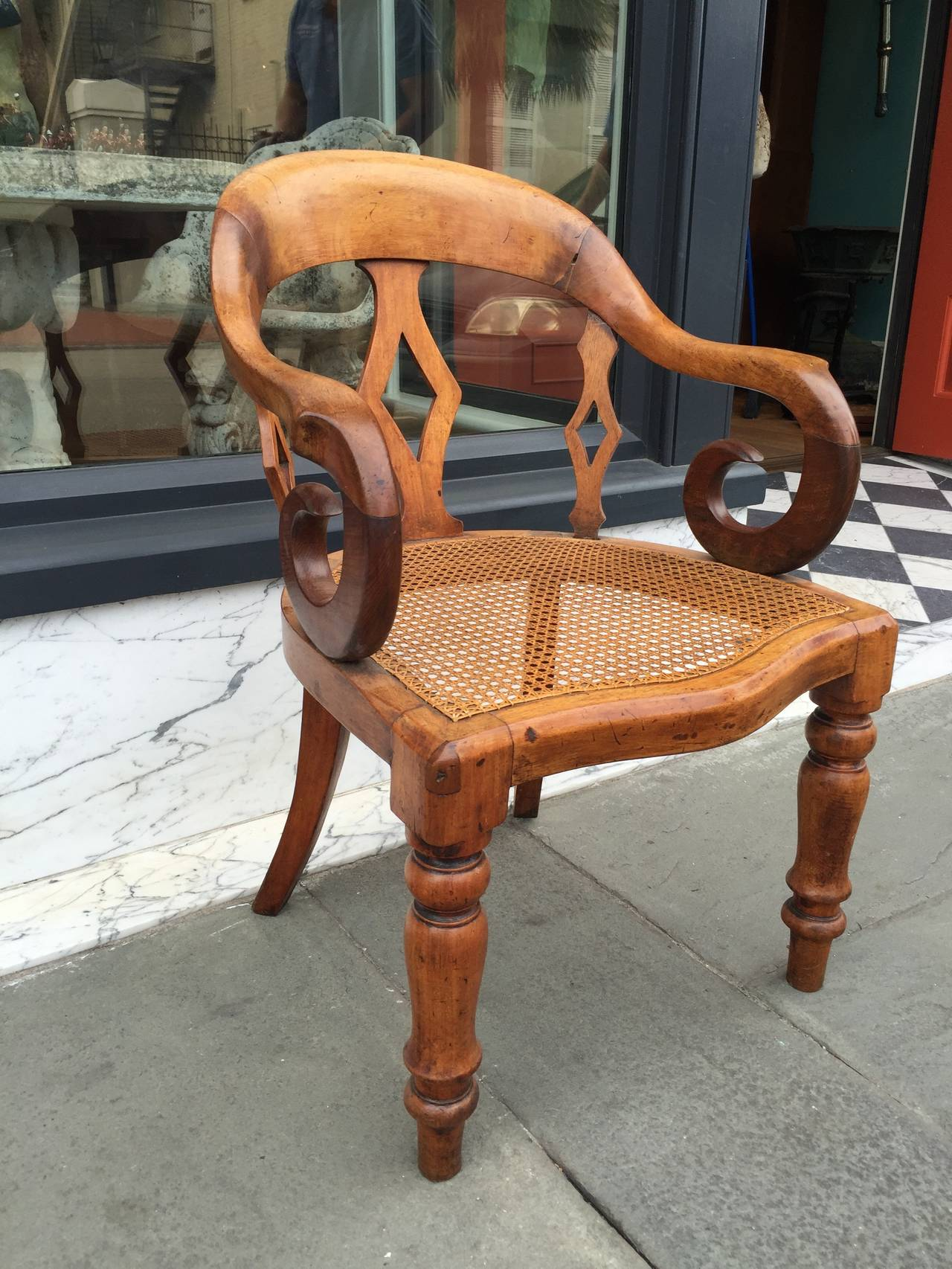 cane bottom chairs the chronicles of narnia silver chair film 19th century english walnut with arm at