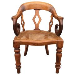 Cane Bottom Chairs Cushioned Patio 19th Century English Walnut With Arm Chair At