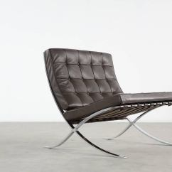 Barcelona Chair Leather Country French Chairs Upholstered Mies Van Der Rohe For Knoll International