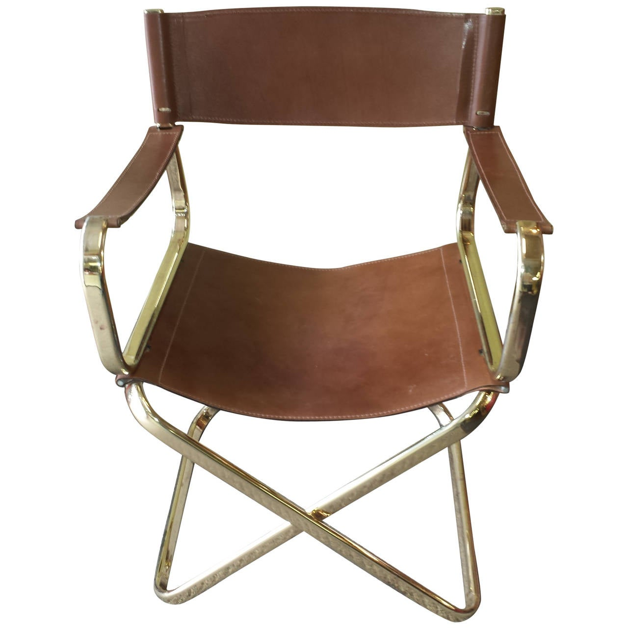 folding directors chairs dunlop fishing chair mid century italian designed leather director 39s