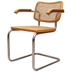 Marcel Breuer Cesca Chair With Armrests Folding Storage Rack Circa 1950 At 1stdibs