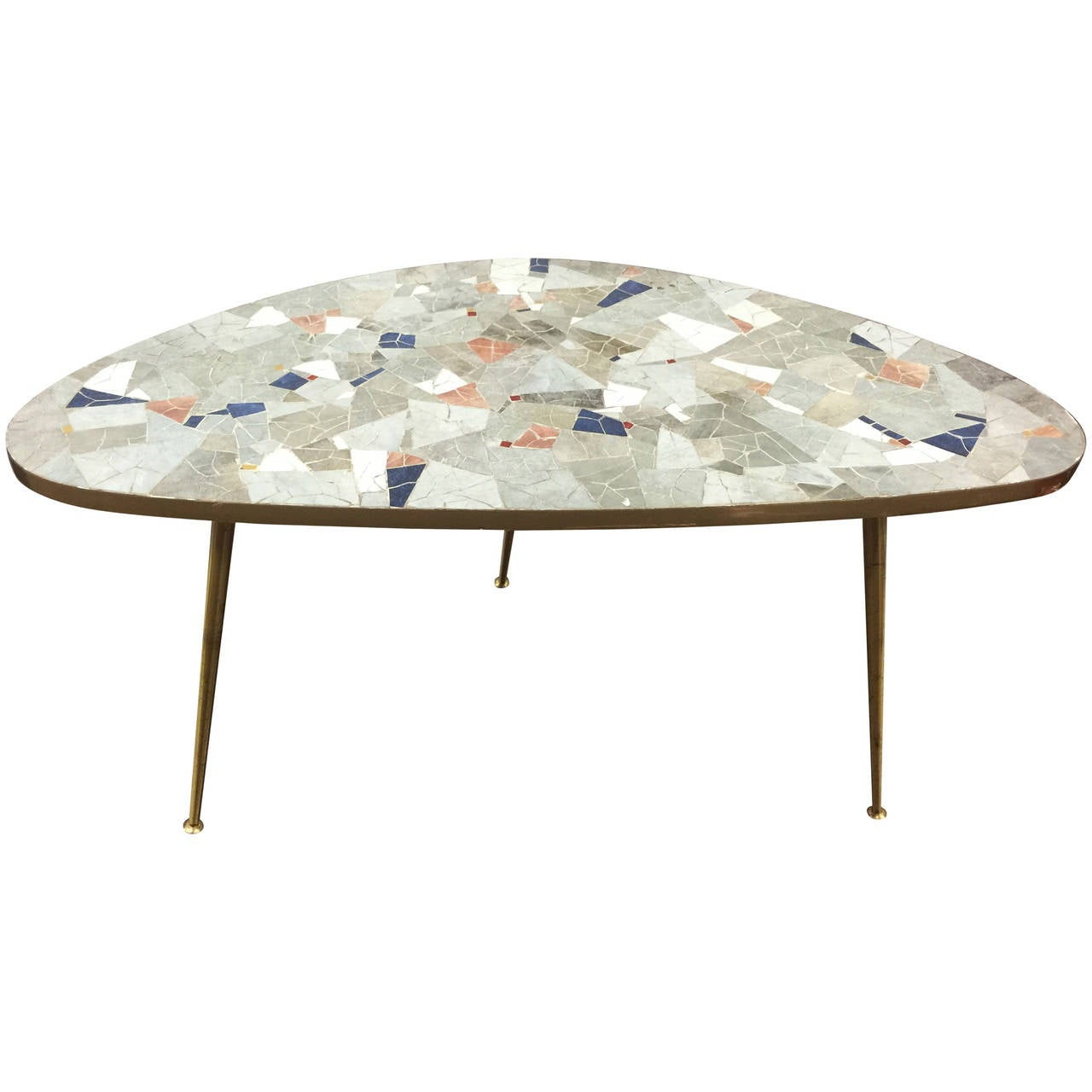 artco bell chairs yoga ball desk chair a midcentury kidney shaped mosaic tile table in the manner
