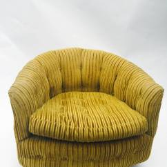 Tub Chair Covers For Sale Diy Midcentury Pair Of Milo Baughman Swivel Barrel Back