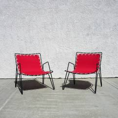 Canvas Sling Chair Rocking Antique Styles 1950s Iron And Outdoor Chairs At 1stdibs