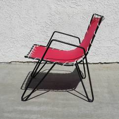 Canvas Sling Chair Hickory Outlet 1950s Iron And Outdoor Chairs At 1stdibs