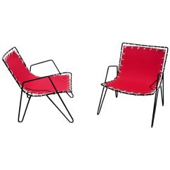 Sling Chairs For Sale Club Chair Slipcovers 1950s Iron And Canvas Outdoor At 1stdibs