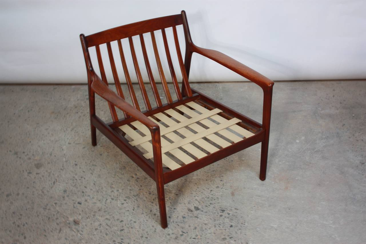 teak lounge chair white and oak dining chairs danish modern in velvet for sale at