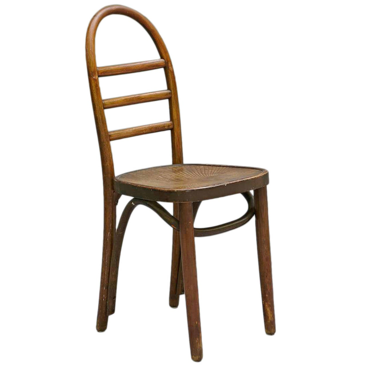 Bent Wood Chairs Thonet Bentwood Ladder Back Chair At 1stdibs