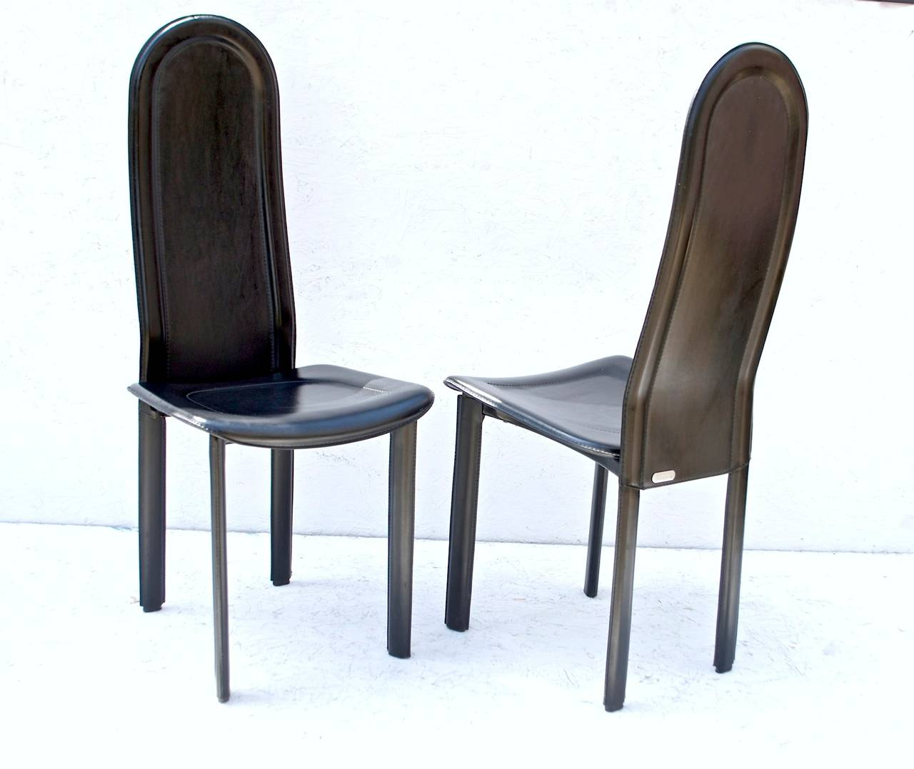 Black Leather Dining Room Chairs Black Leather Dining Chairs By Artedi Uk At 1stdibs