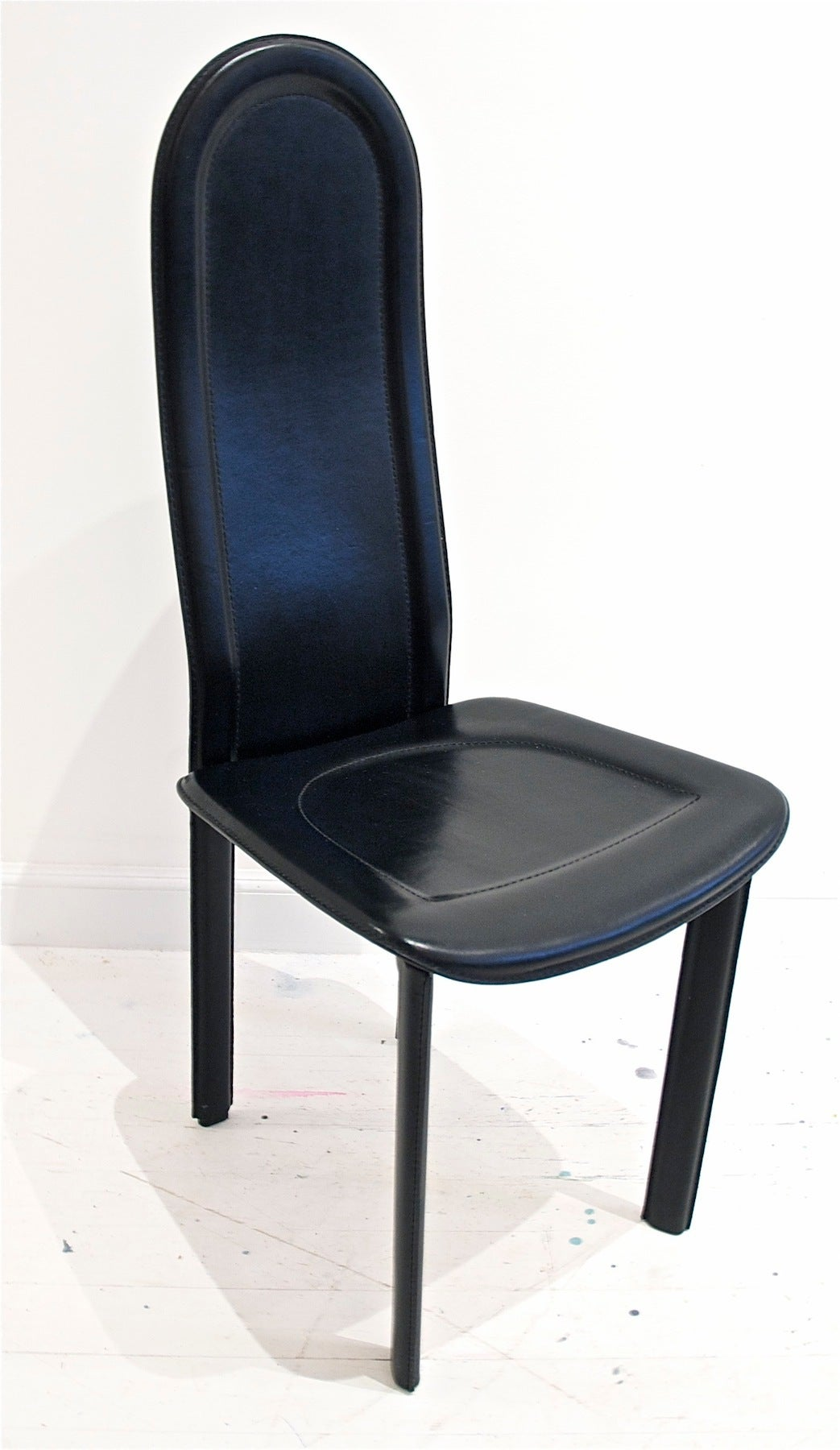 Black Leather Dining Chairs Black Leather Dining Chairs By Artedi Uk At 1stdibs