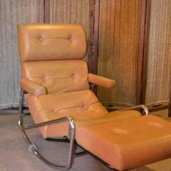 Retro Rocking Chair Stressless Ekornes 1960s Vintage Lama Chrome Lounge For Sale At