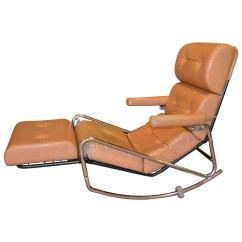Antique Folding Rocking Chair Wood Target Rope 1960s Vintage Lama Chrome Lounge At 1stdibs