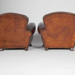 Art Deco Club Chairs Leather World Market Clear Office Pair Of French Circa 1930 At