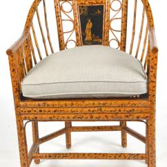 Bamboo Cane Back Chairs Desk Chair Gold Pair Of Chinese Export Style Brighton Pavillion At 1stdibs