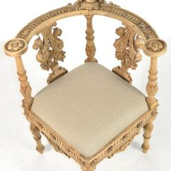 Wooden Corner Chair Bedroom Chairs For Teens 19th Century Italian Baroque Style Carved Wood