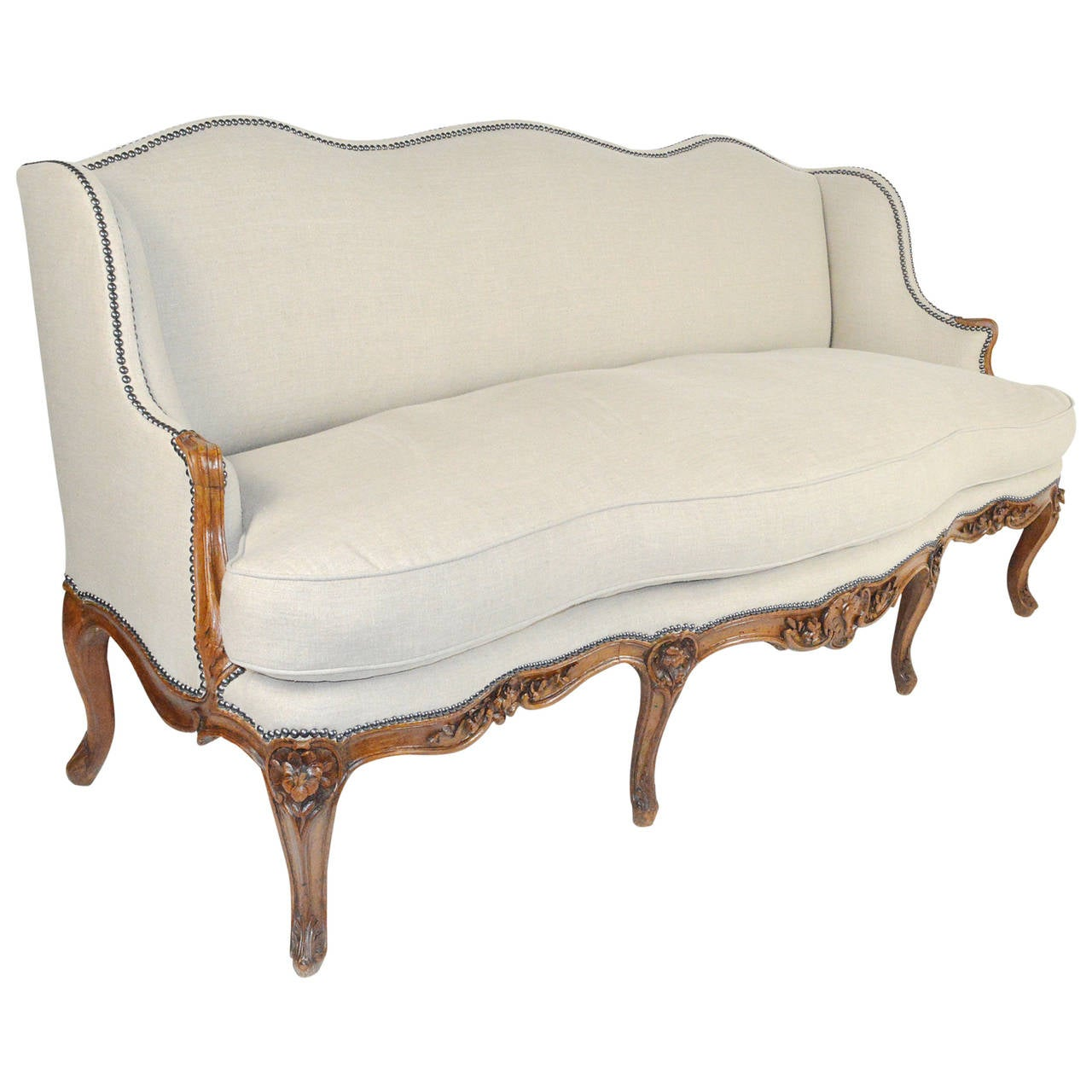 french style sofas for sale best slipcover sleeper sofa louis xv serpentine canape at 1stdibs