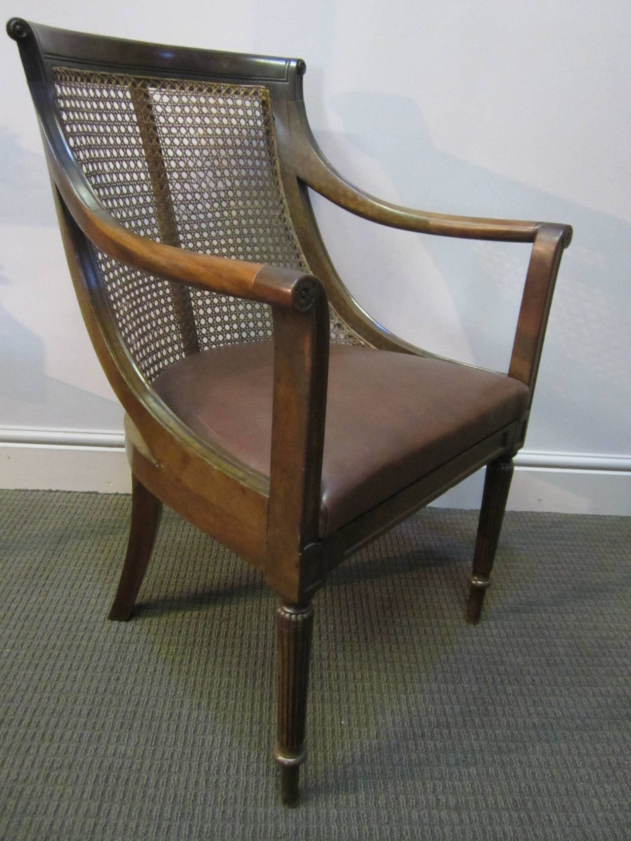 cane back chairs for sale at home depot early victorian library chair 1stdibs