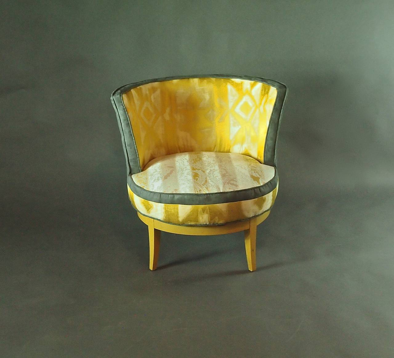 swivel chairs for sale revolving chair other name mid century barrel with base at 1stdibs