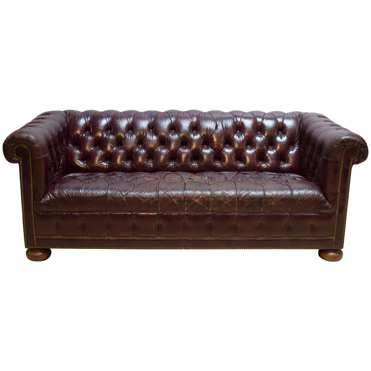 tan furniture sofa how much does reupholstering a cost uk vintage leather chesterfield at 1stdibs
