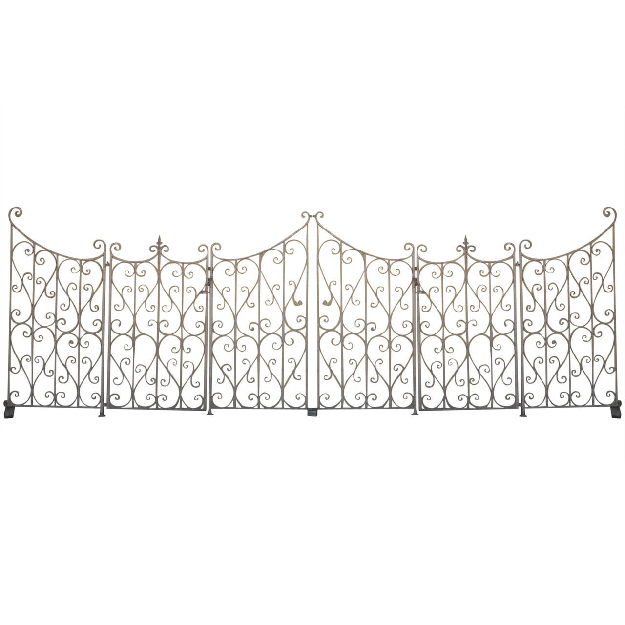 French Wrought Iron Garden Gate or Fence at 1stdibs
